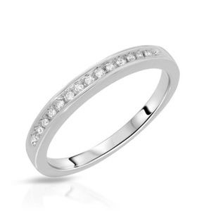 Jewelry - 925 Sterling Silver Cubic Zirconia Channel Ring
